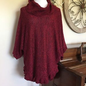 NWT Studio Works Size 2X Red Cowl Neck Sweater